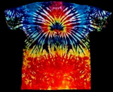 Fire Burst tie-dye T-shirt