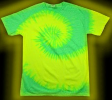 two-color - neon green and neon yellow - tie-dye T-shirt