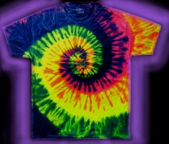 multi-colored, Neon Swirl A tie-dye T-shirt