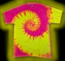 multi-colored, Neon Swirl B tie-dye T-shirt